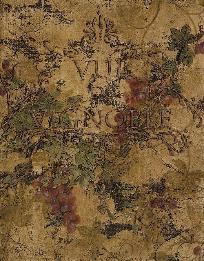 Vineyard Painting - View Of The Vineyard by Chris Brandley