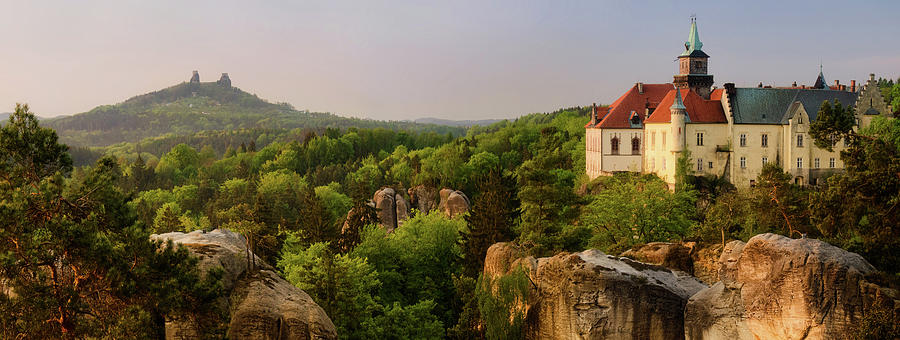 Horizontal Photograph - View Of Trosky Castle In A Village by Panoramic Images