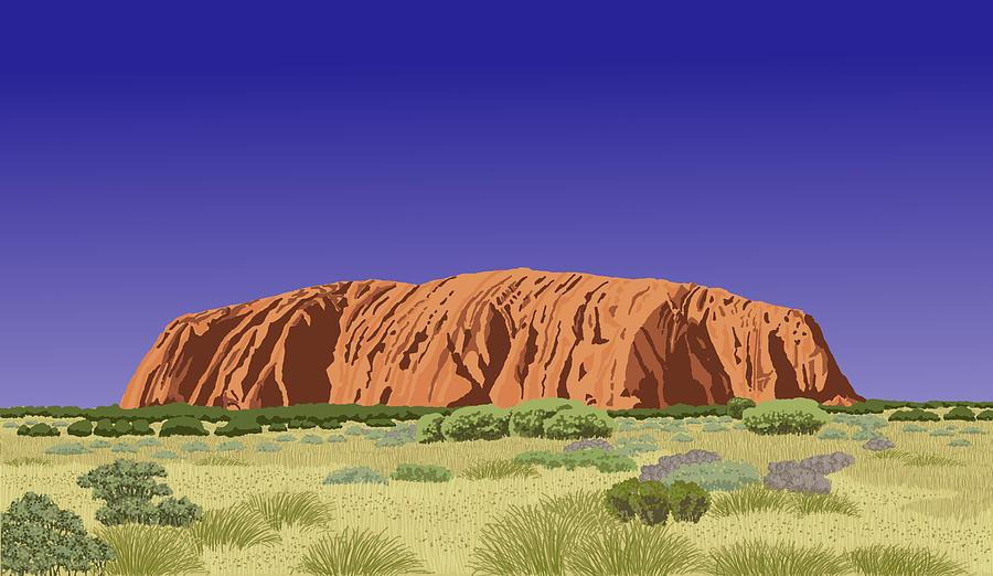 View of Uluru / Ayers Rock by David Burkart