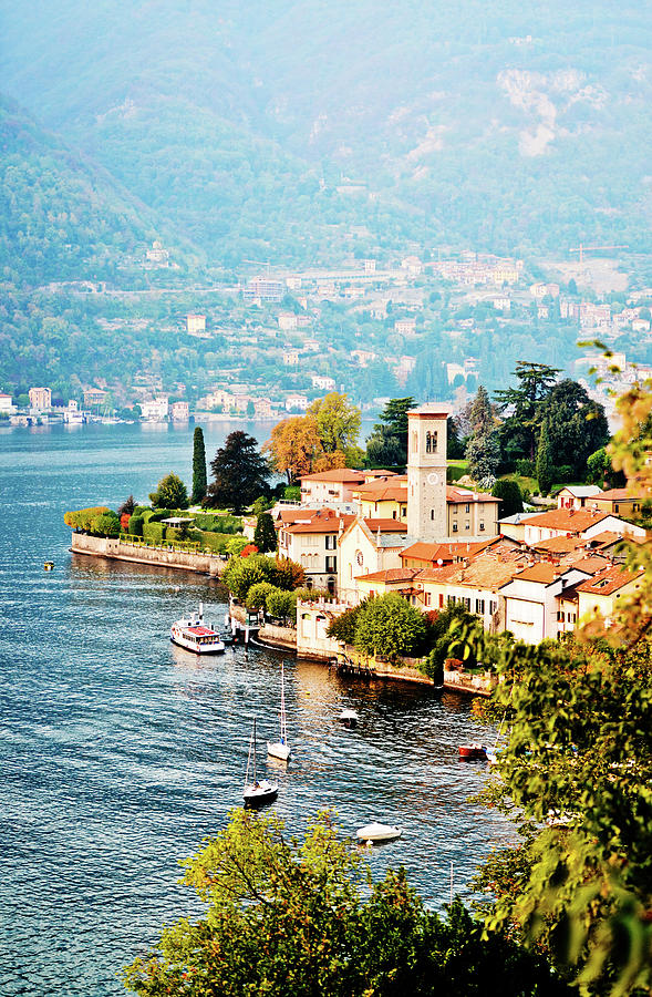View On Torno Village, Lake Como, Italy Photograph by Anouchka