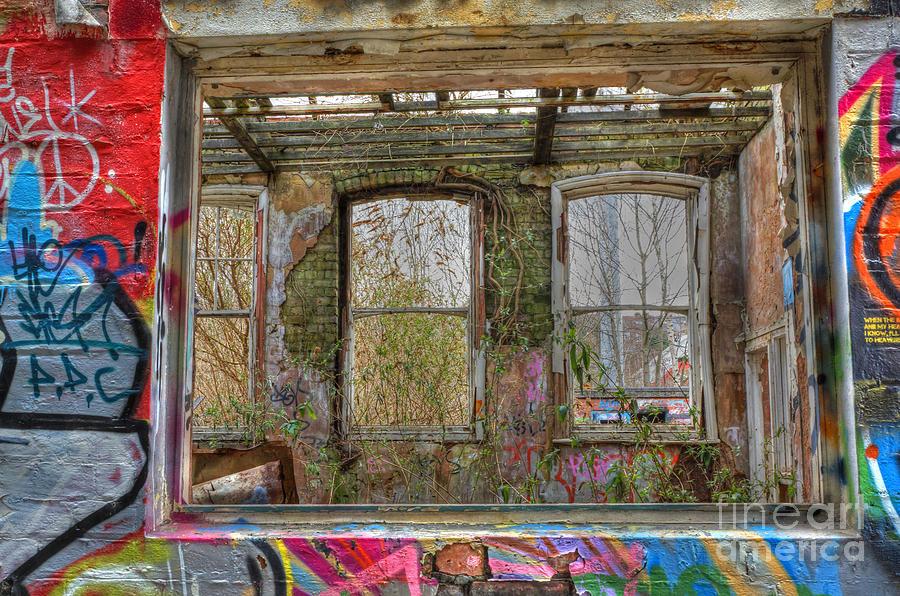 Urban Photograph - View Through A Window by David Birchall