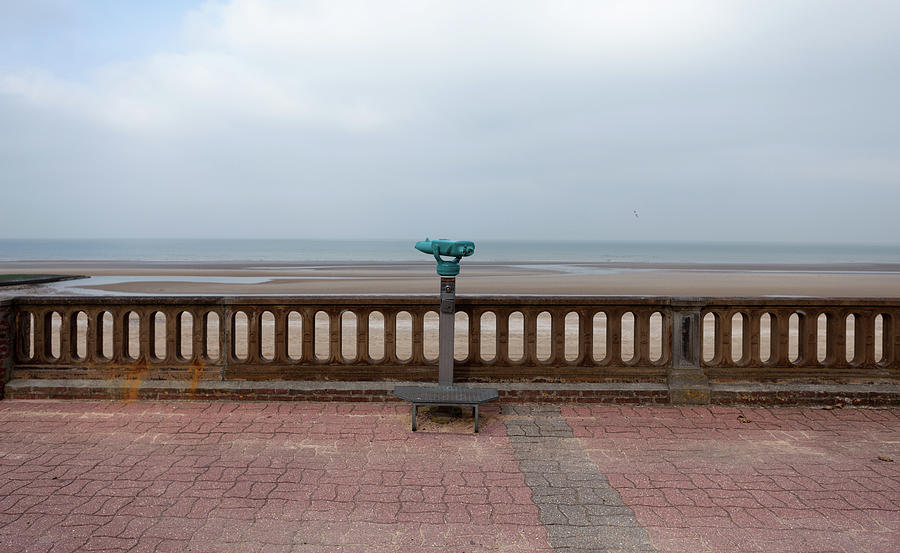 Viewpoint At An Empty Beach Photograph by Julio Lopez Saguar