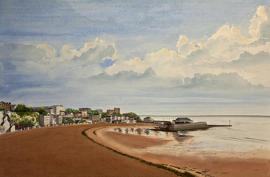 Seascape Painting - Viking Bay Broadstairs Kent Uk by Martin Howard
