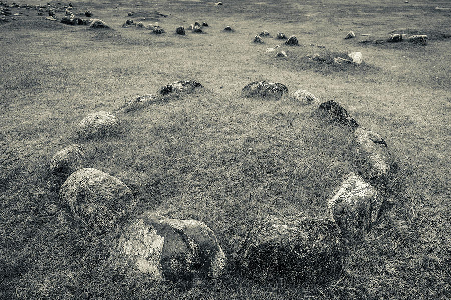 Horizontal Photograph - Viking Burial Ground, Lindholm Hoje by Panoramic Images