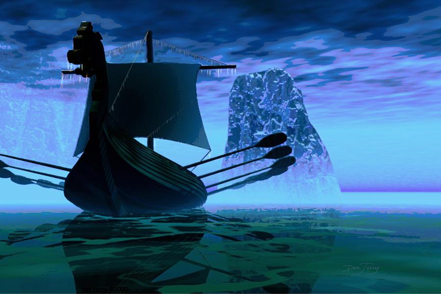 Viking Painting - Viking Journey by Dan Terry