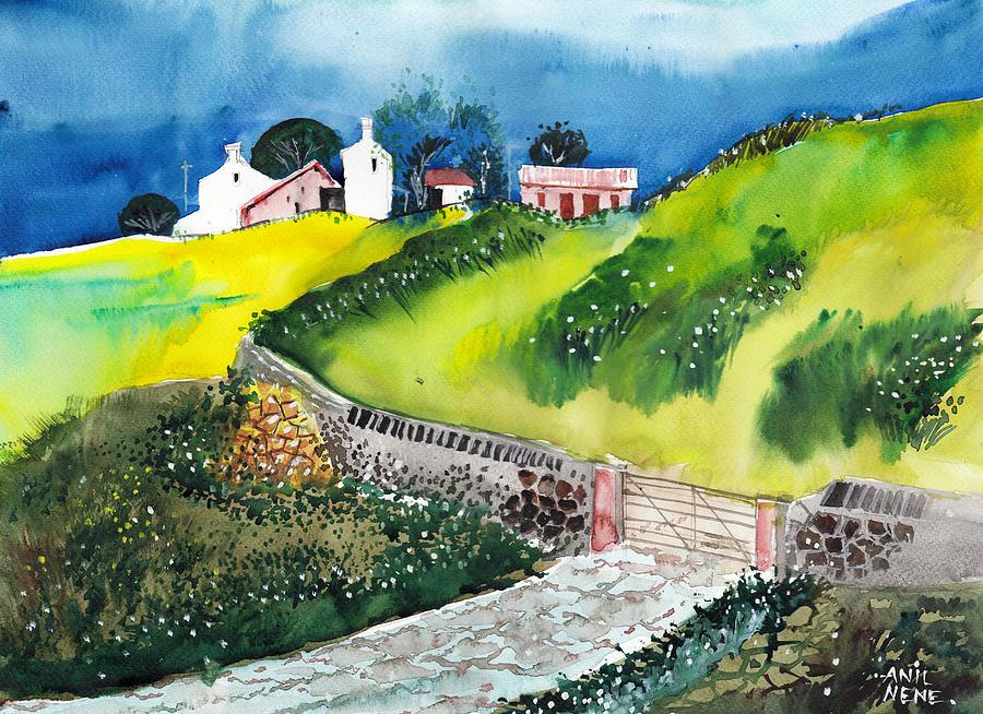 Nature Painting - Villa by Anil Nene
