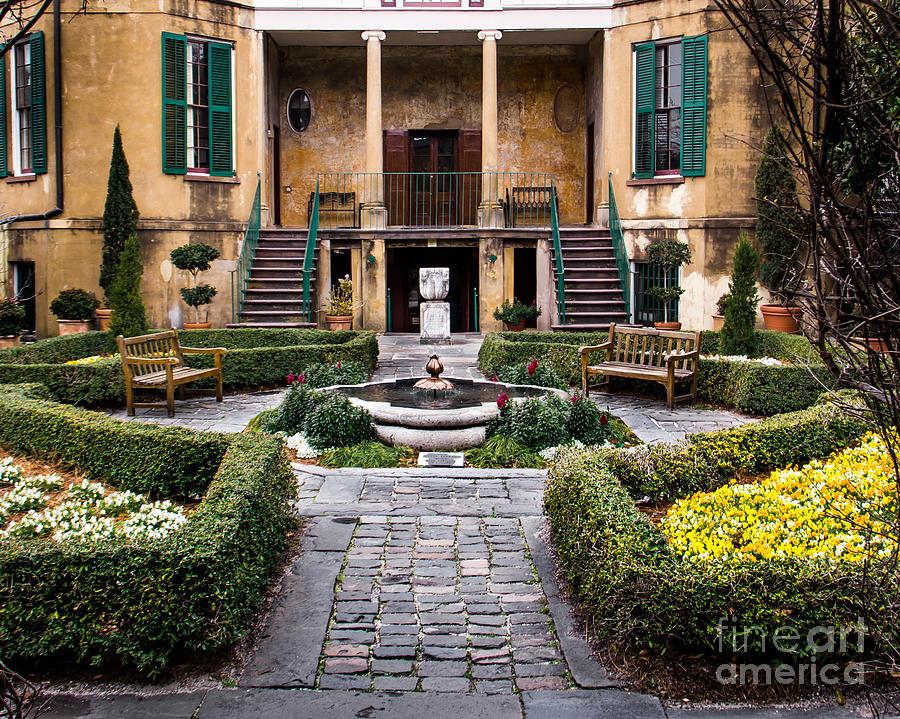 Garden Photograph - Villa Courtyard by Perry Webster