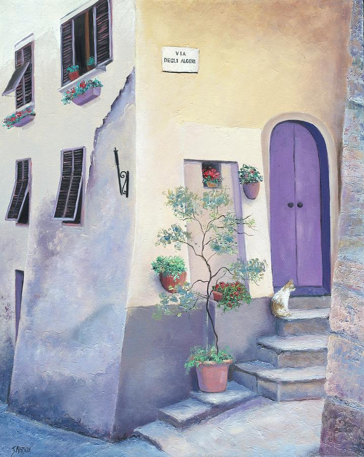 Villa In Tuscany Painting - Villa Degli Algeri Tuscany by Jan Matson