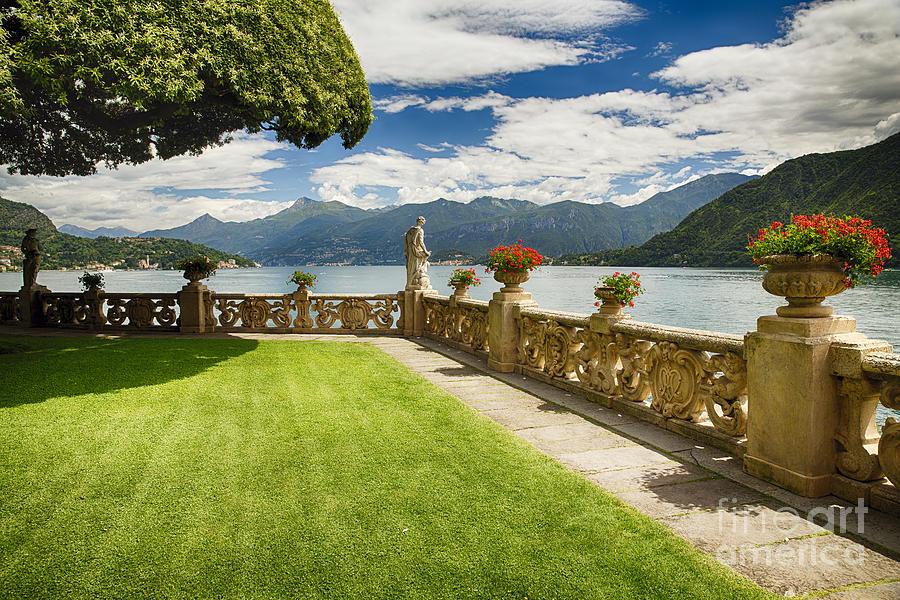 Lake Como Photograph - Villa Garden View On Lake Como by George Oze