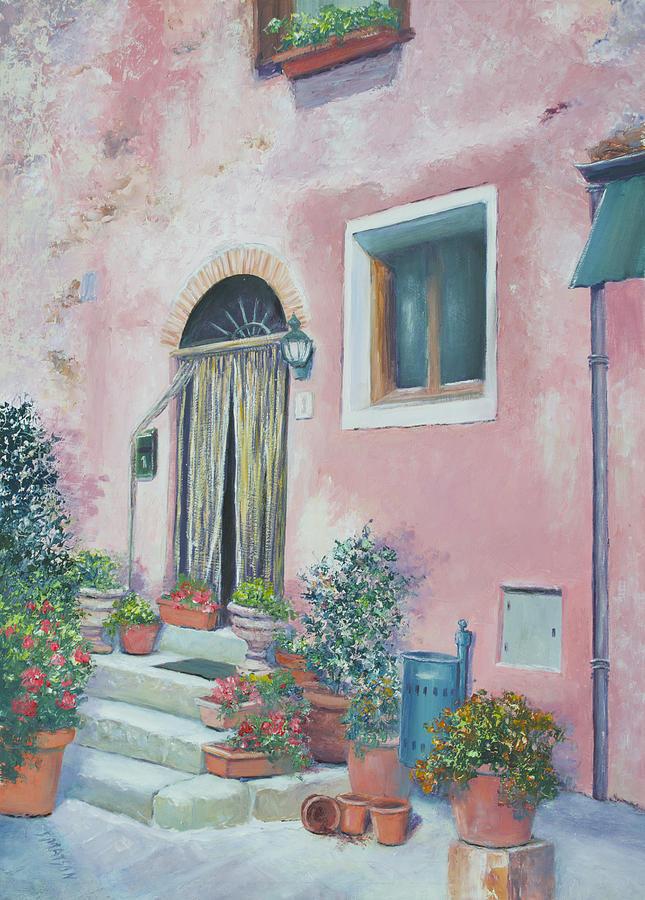 Il Borro Painting - Villa In Il Borro Tuscany by Jan Matson