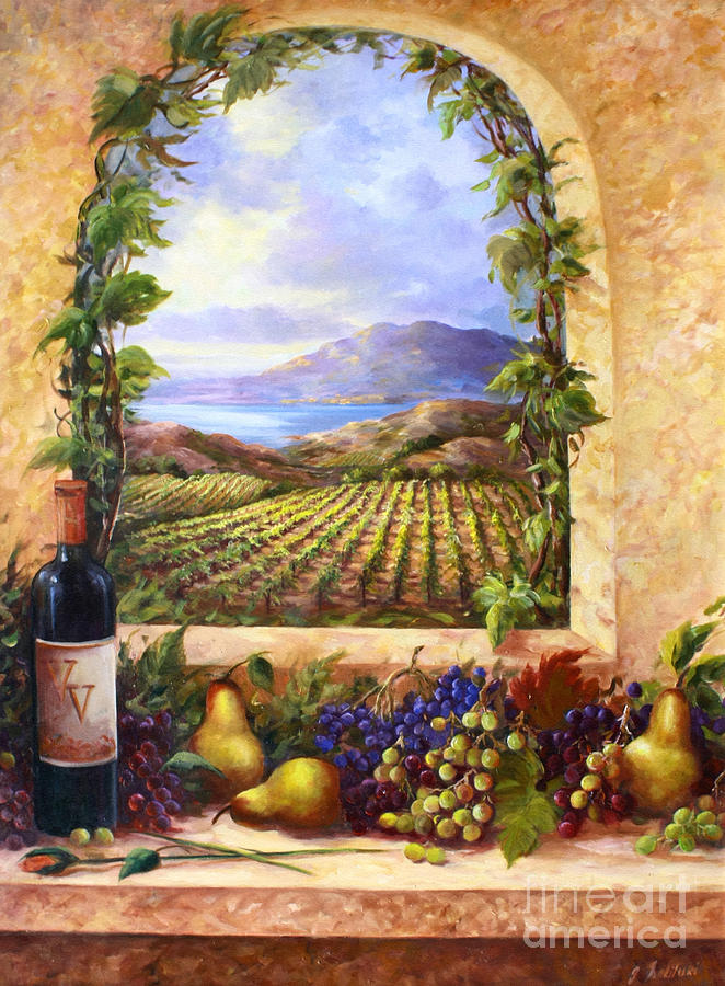 Tuscan Painting - Villa View by Gail Salituri