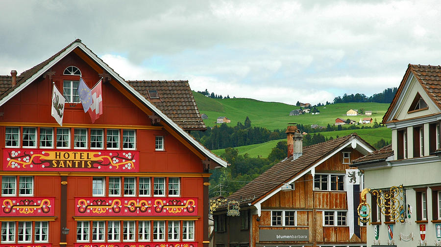 Hotel Santis And Hillside Of Appenzell Switzerland