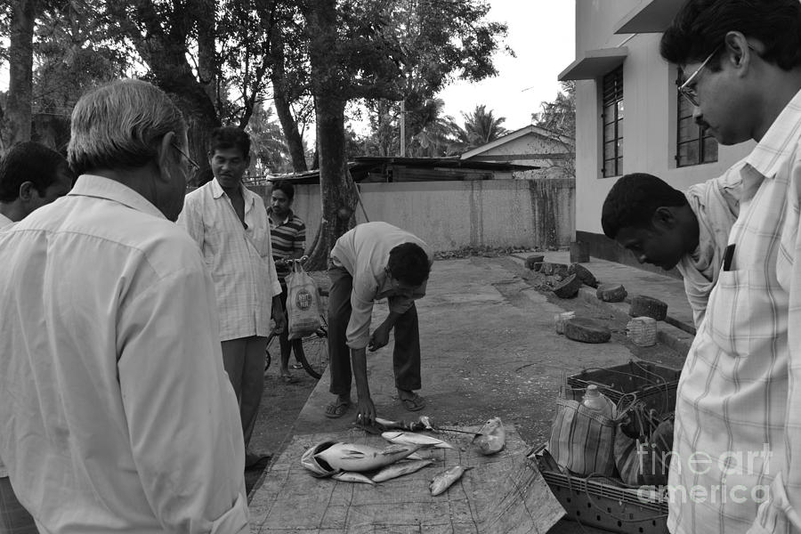 Andaman And Nicobar Island Digital Art - Village Fish Market by Bobby Mandal