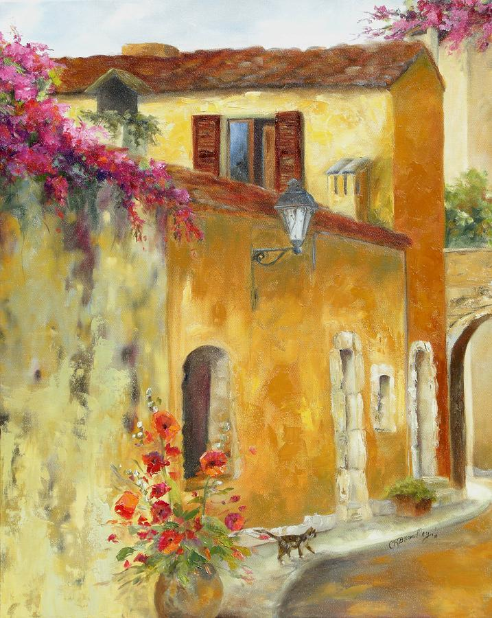French Village Painting - Village In Provence by Chris Brandley