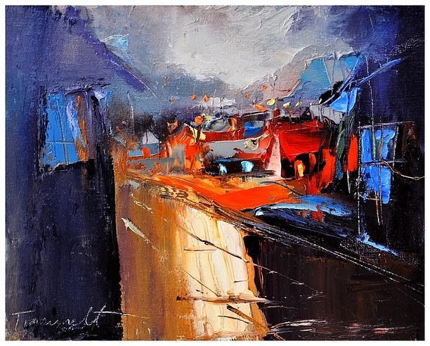 Village Lights Painting by David Figielek