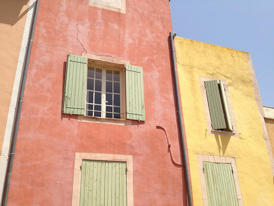 Colourful Houses Photograph - Village Of Roussillon France by Pema Hou