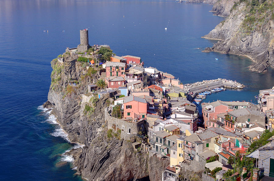 Ancient Photograph - village of Vernazza by Ioan Panaite