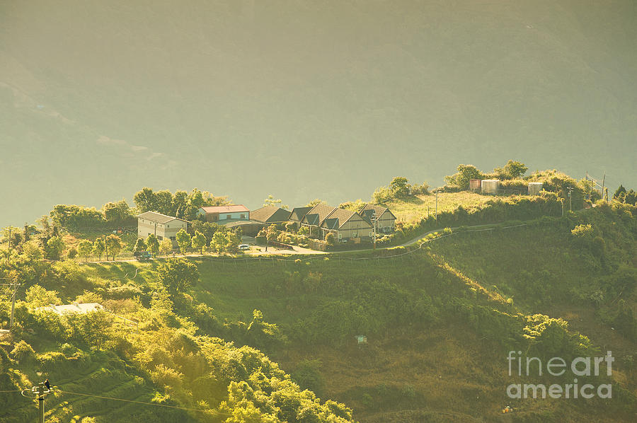 Mountain Photograph - Village On Mountain by Yew Kwang