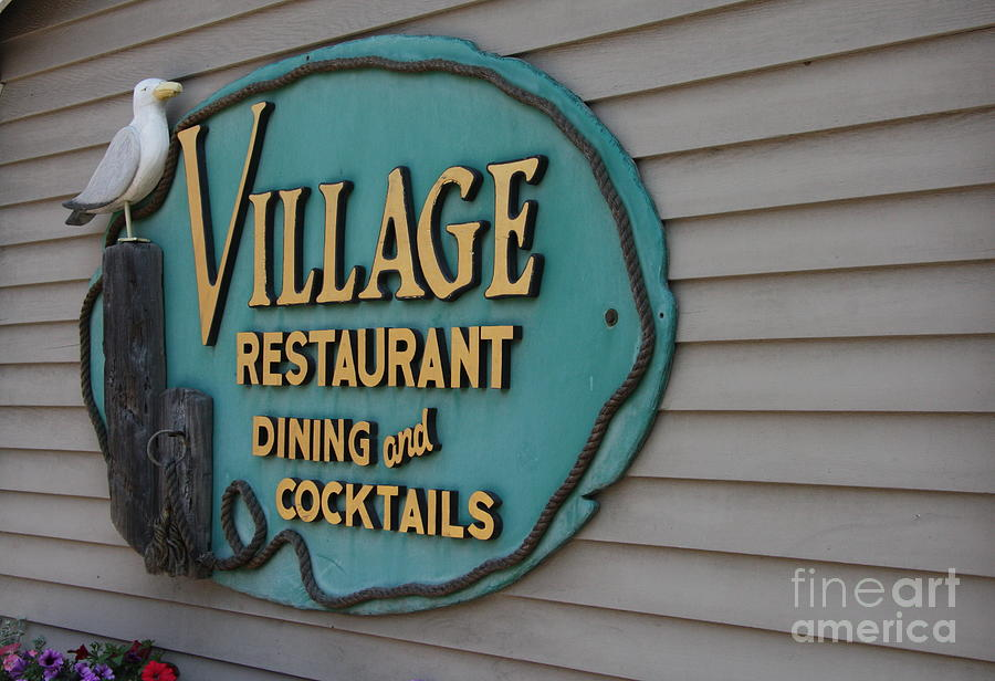 Gull Photograph - Village Restaurant by Christiane Schulze Art And Photography