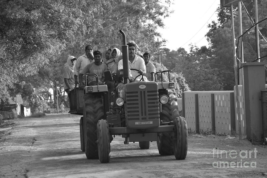 Andaman And Nicobar Island Digital Art - Village Tractor  by Bobby Mandal