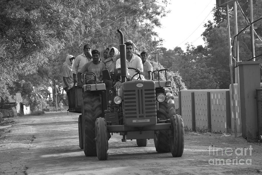 Andaman And Nicobar Island  Digital Art - Village Tractor  by Bobby Mandal