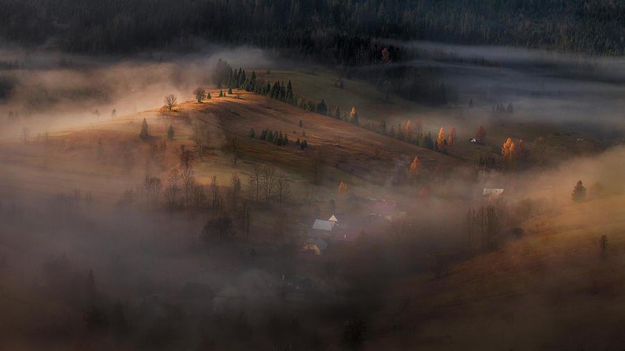 Village Photograph - Village Under The Cover by Peter Svoboda, Mqep