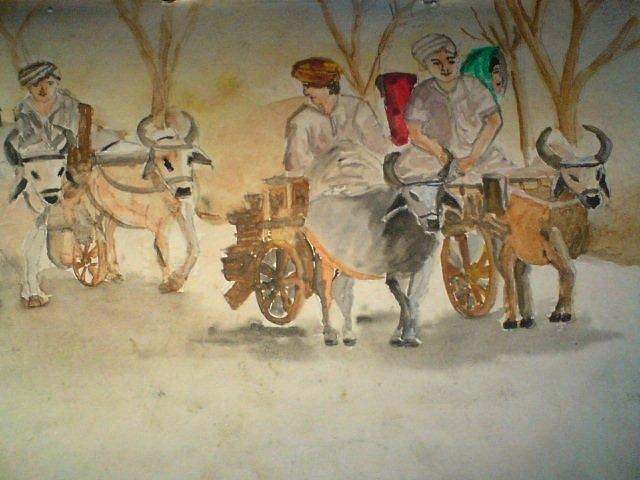 Village  Painting by Vandana Vitika