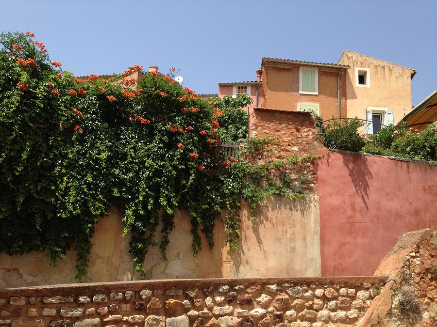 Village Photograph - Village Vista Roussillon France by Pema Hou