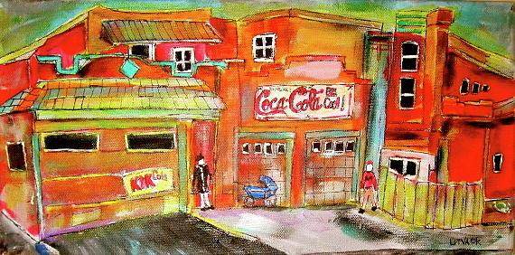 Garages Painting - Villaneuve Garages by Michael Litvack