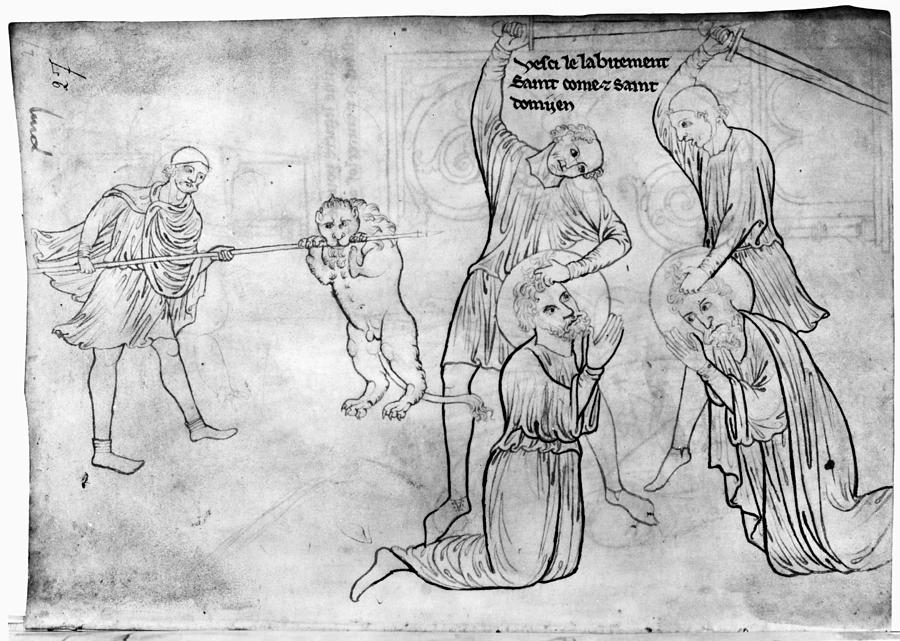 13th Century Drawing - Villard De Honnecourt (c1225-1250) by Granger