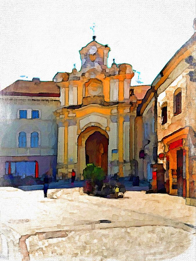 Vilnius Digital Art - Vilnius Old Town 33 by Yury Malkov