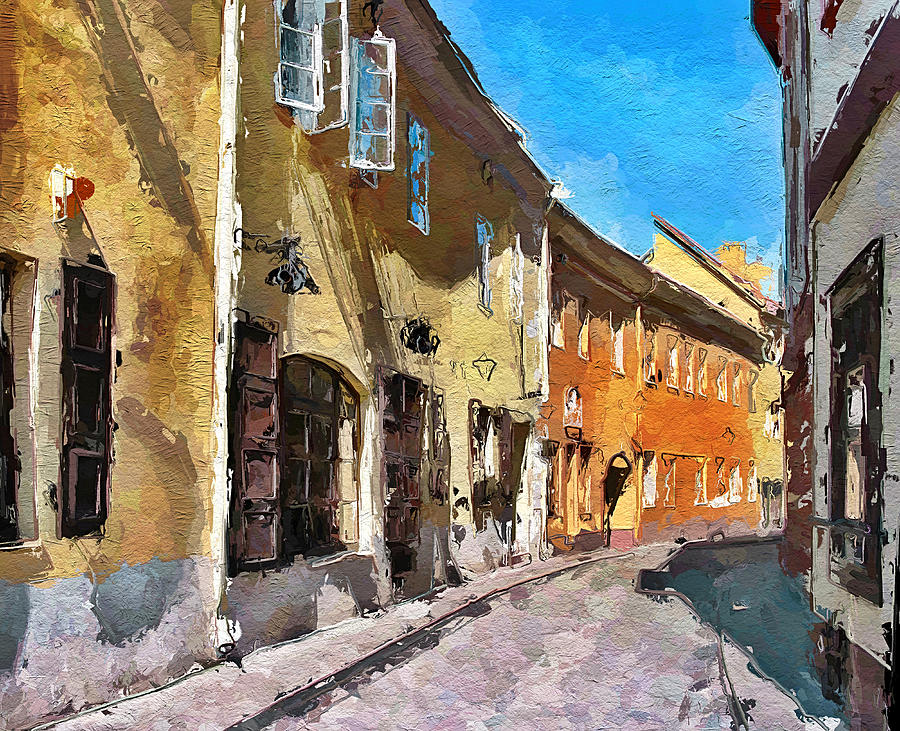 Vilnius Digital Art - Vilnius Old Town 35 by Yury Malkov