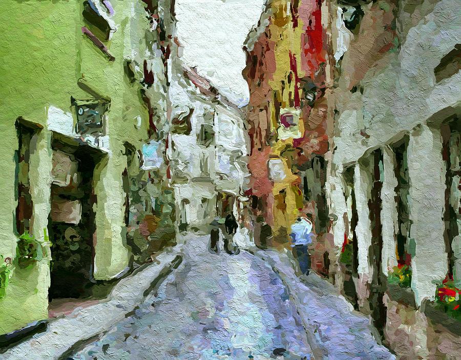 Vilnius Digital Art - Vilnius Old Town 36 by Yury Malkov
