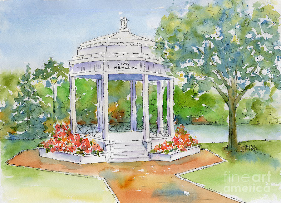 Impressionism Painting - Vimy Memorial by Pat Katz