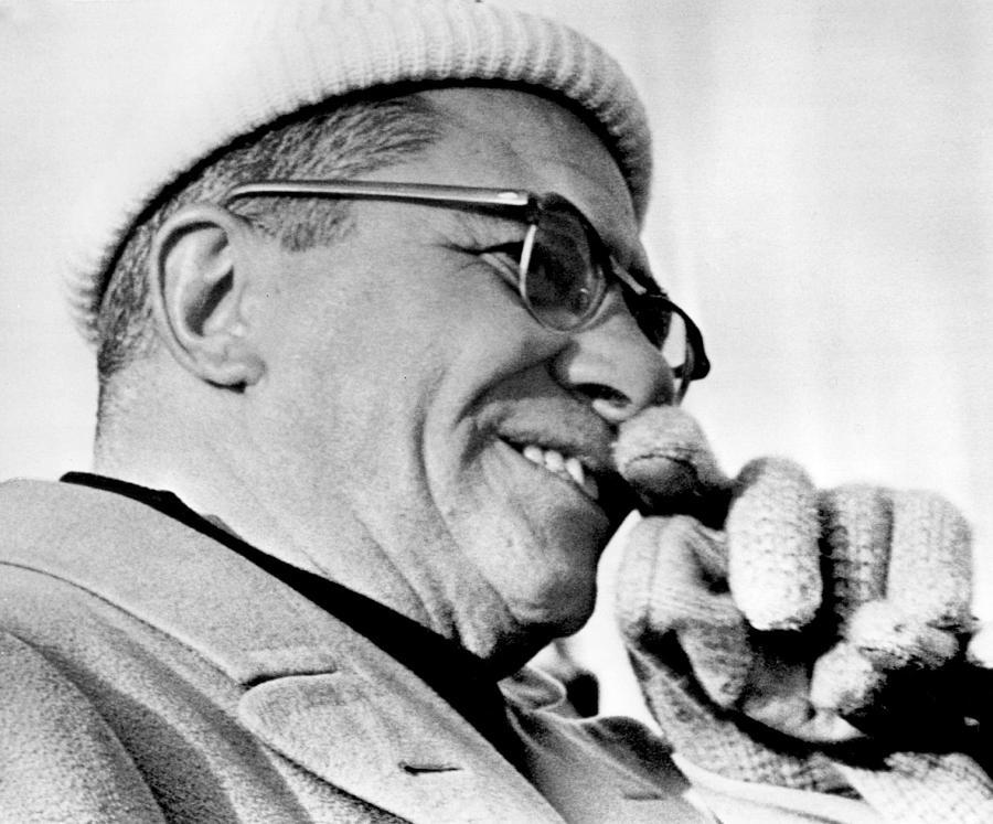 Retro Images Archive Photograph - Vince Lombardi Close Up by Retro Images Archive