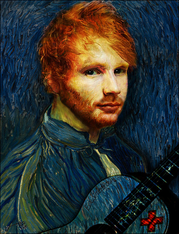 ce4548b377d Vincent Drawing - Vincent Van Gogh The Artist Reincarnated As Ed Sheeran  The Musician by Jose