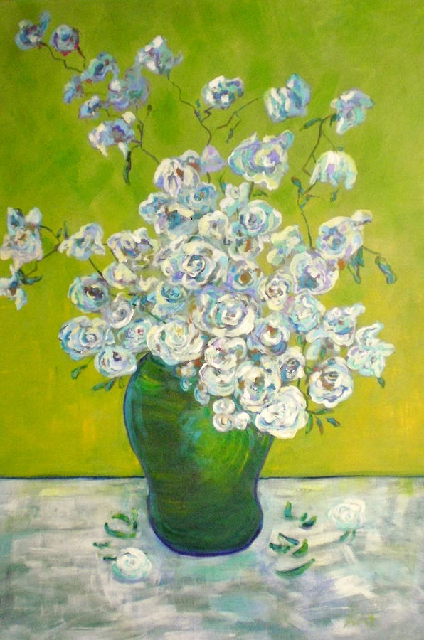 Florals Painting - Vincents Flowers by Marilyn Hurst