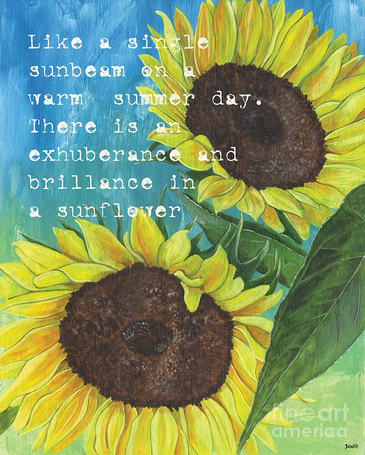 Flowers Painting - Vinces Sunflowers 1 by Debbie DeWitt