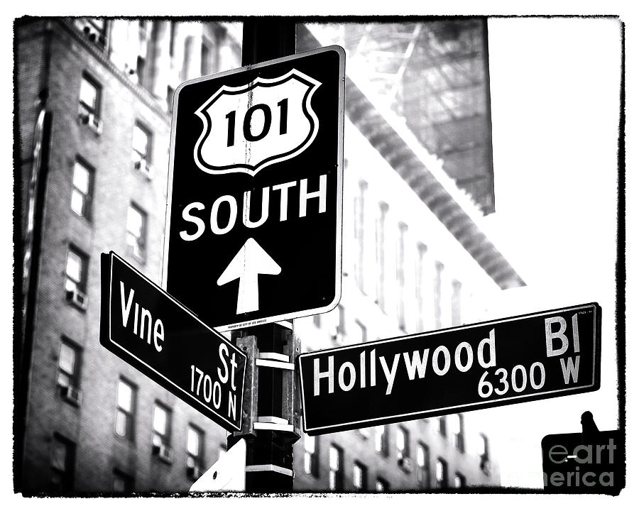 Vine And Hollywood Photograph - Vine And Hollywood by John Rizzuto