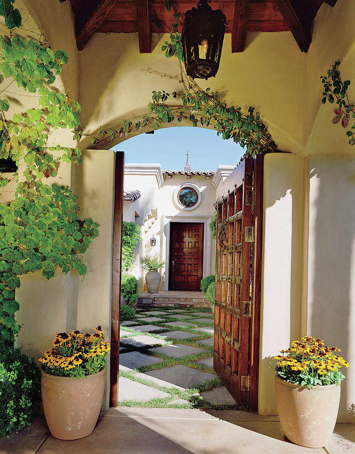 Vine Covered Doorway Photograph by Mary E. Nichols