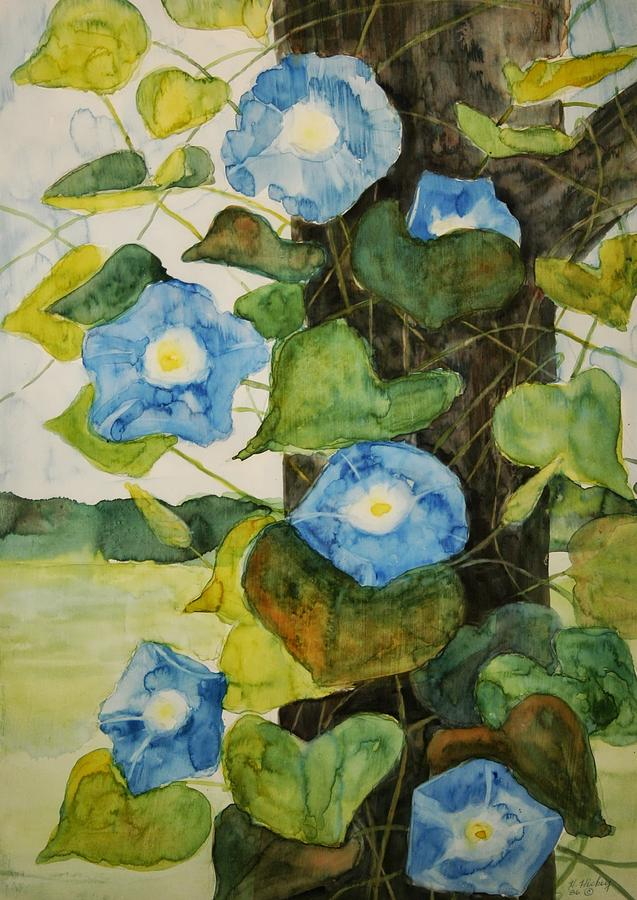 Vine Painting by Helen Hickey