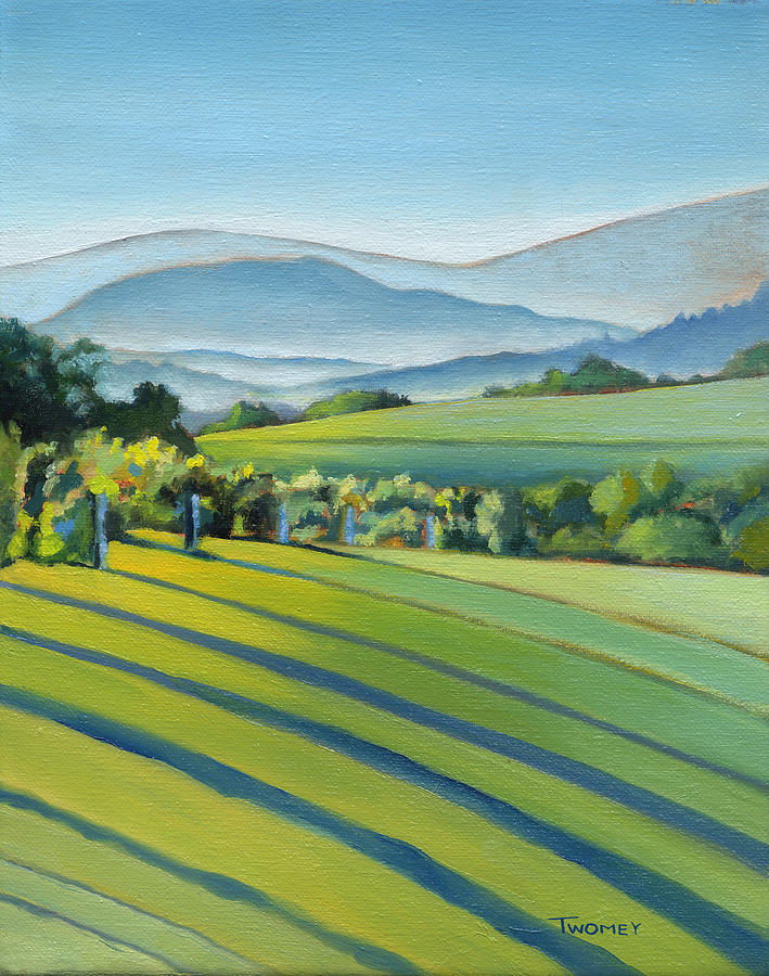 Twomey Painting - Vineyard Blue Ridge On Buck Mountain Road Virginia by Catherine Twomey