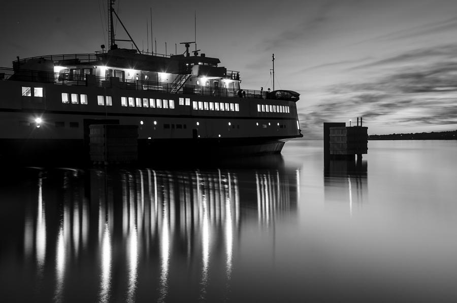 Marthas Vineyard Photograph - Vineyard Ferry by Steve Myrick