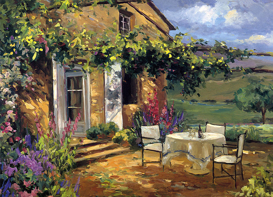 Vineyard Villa Painting By Allayn Stevens