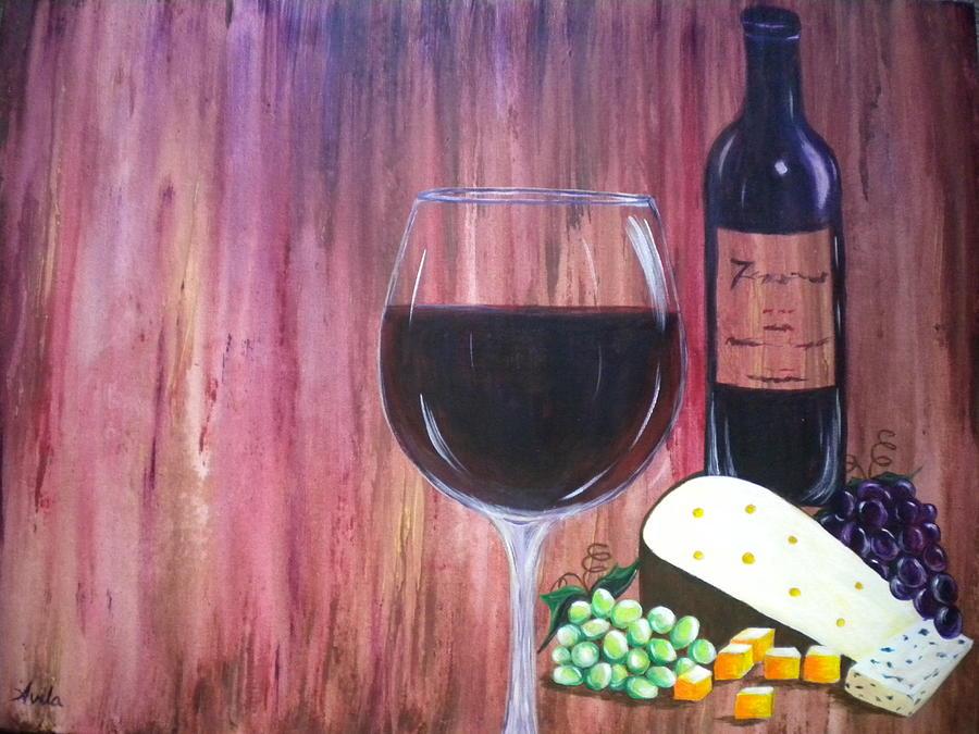 Wine Painting - Vino by Abigail Avila