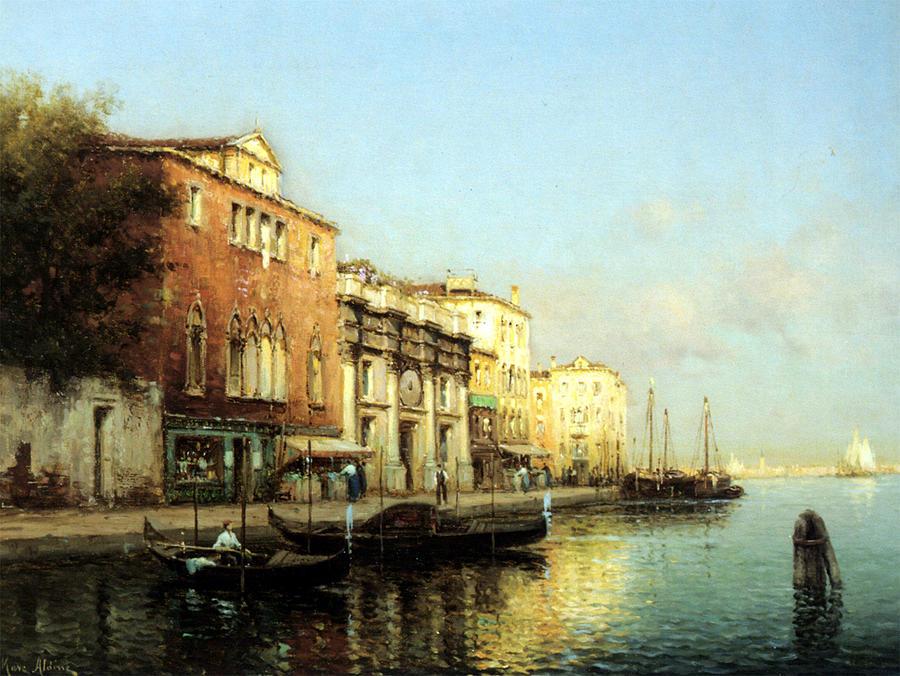 Venice Canal Digital Art - Vinse by Marc Aldine