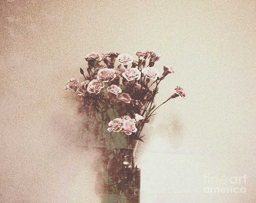 Poster Photograph - Vintage Abstract Flowers by Victoria Herrera