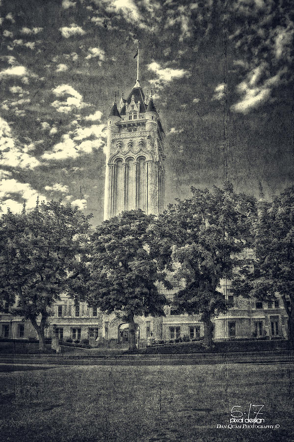 Spokane County Courthouse Photograph - Vintage After by Dan Quam