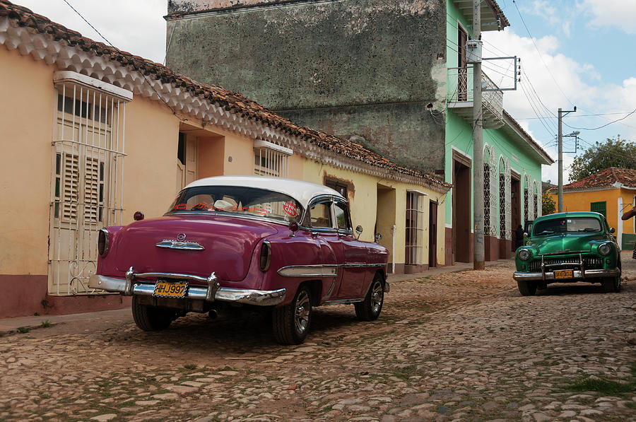 Vintage American Cars In Cuba Photograph by John Elk Iii