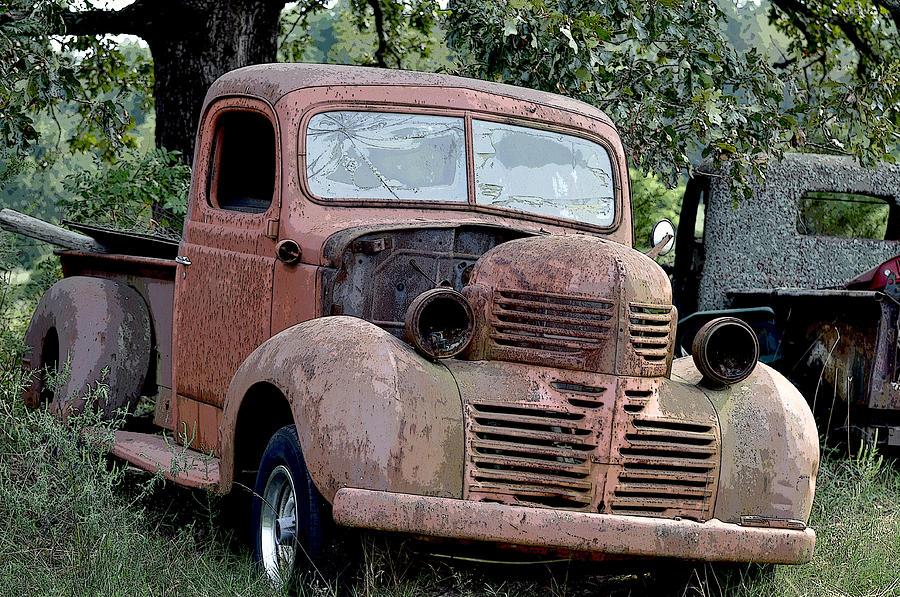vintage american pickup trucks color photograph by sally rockefeller. Black Bedroom Furniture Sets. Home Design Ideas